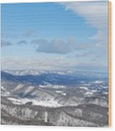 Snow Overlook Wood Print