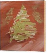 Snow Pines Wood Print