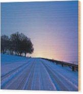 Snow Rizer Wood Print