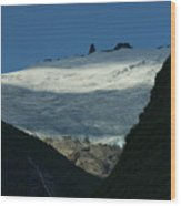 Snow Rock And Shadow Wood Print