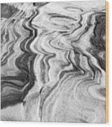 Snow Shapes Viii Wood Print