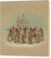 Snow Shoe Dance. Ojibbeway Wood Print