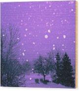Snow Song Wood Print