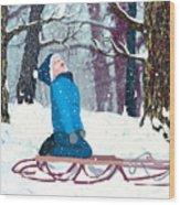 Snow Trance Wood Print