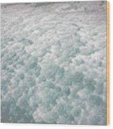 Snow Waves Wood Print