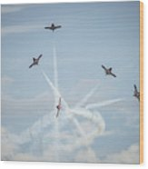 Snowbirds In Flight Wood Print