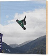 Snowboarder At The Telus Snowboard Festival Whistler 2010 Wood Print