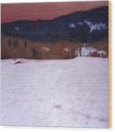 Snowbound Wood Print