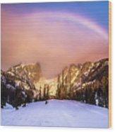 Snowbow Wood Print