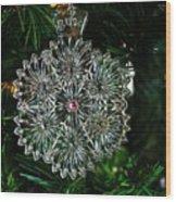 Snowcrystal Ornament 2016 Wood Print