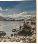 Snowdon From Llynnau Mymbyr Wood Print