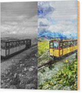 Snowdon Train Wood Print