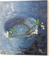 Snowdrops Bowl Wood Print