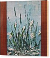 Snowdrops Spring Wood Print