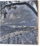 Snowfall Covers Northern Arizona For Christmas Wood Print