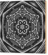 Snowflake 6 Wood Print