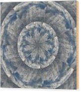 Snowflake Clouds Wood Print
