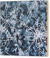 Snowflake Greetings Wood Print