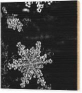 Snowflake Jewels Wood Print