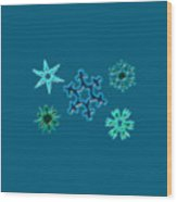 Snowflake Pattern Wood Print