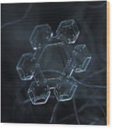 Snowflake Photo - Jewel Wood Print