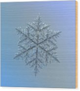 Snowflake Photo - Majestic Crystal Wood Print