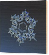 Snowflake Photo - Spark Wood Print