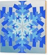 Snowflake Pile Wood Print