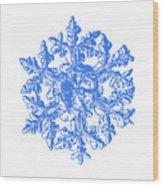 Snowflake Vector - Gardener's Dream White Version Wood Print