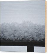 Snowflakes Chill The Iron Wood Print