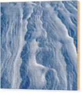 Snowforms 1 Wood Print