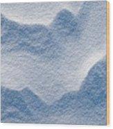 Snowforms 3 Wood Print