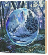 Snowglobular Wood Print