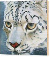 Snowleopard Wood Print