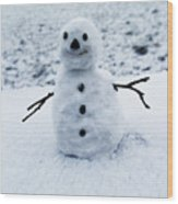 Snowman 1 Wood Print