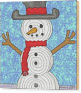 Snowman 2015 Wood Print