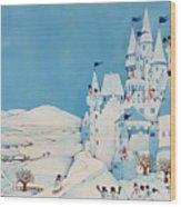 Snowman Castle Wood Print
