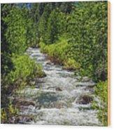 Snowmelt On The Carson Wood Print