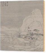 Snowscape From Album For Zhou Lianggong Wood Print