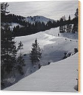 Snowshoeing Switzerland's La Berra Wood Print