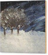 Snowstorm Wood Print