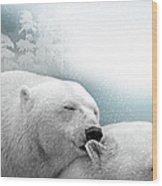 Snowstorm Kiss Wood Print