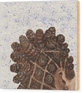 Snowy Bantu Wood Print