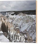 Snowy Canyon Wood Print