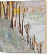 Snowy Dawn Wood Print