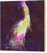 Snowy Egret Waterfowl Bird Large  Wood Print