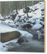 Snowy Falls Wood Print