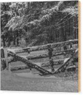 Snowy Gate Wood Print
