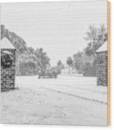 Snowy Gates Of Chisolm Island Wood Print