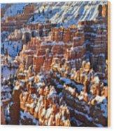 Snowy Hoodoos Wood Print